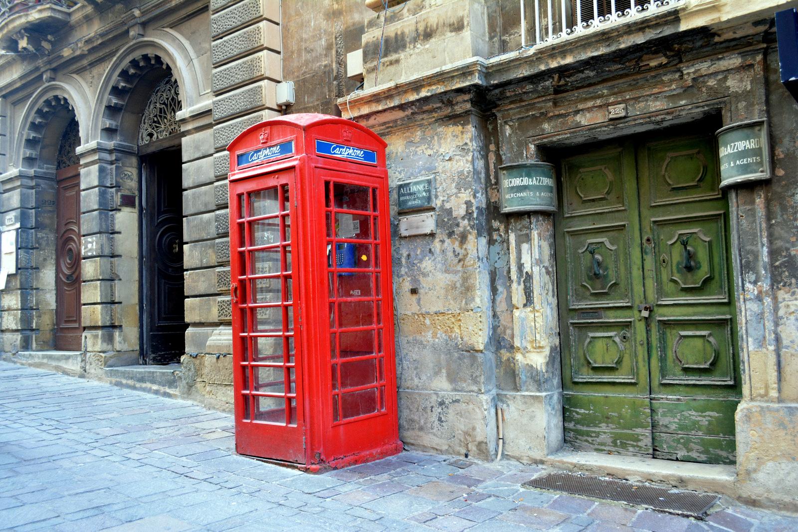 Телефонная будка Валлетта