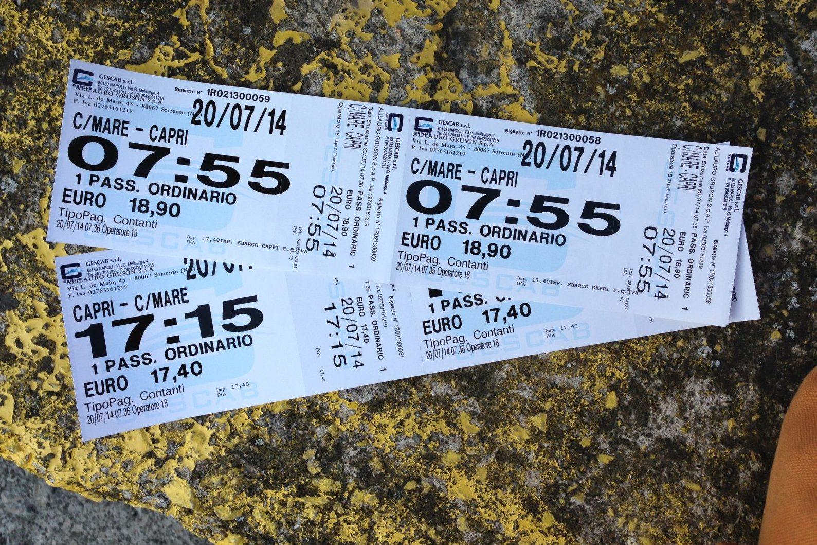 Билеты на Капри