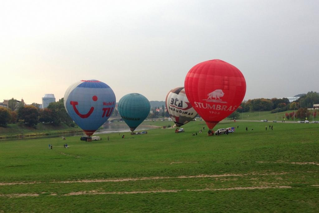 Воздушные шары в Вильнюсе