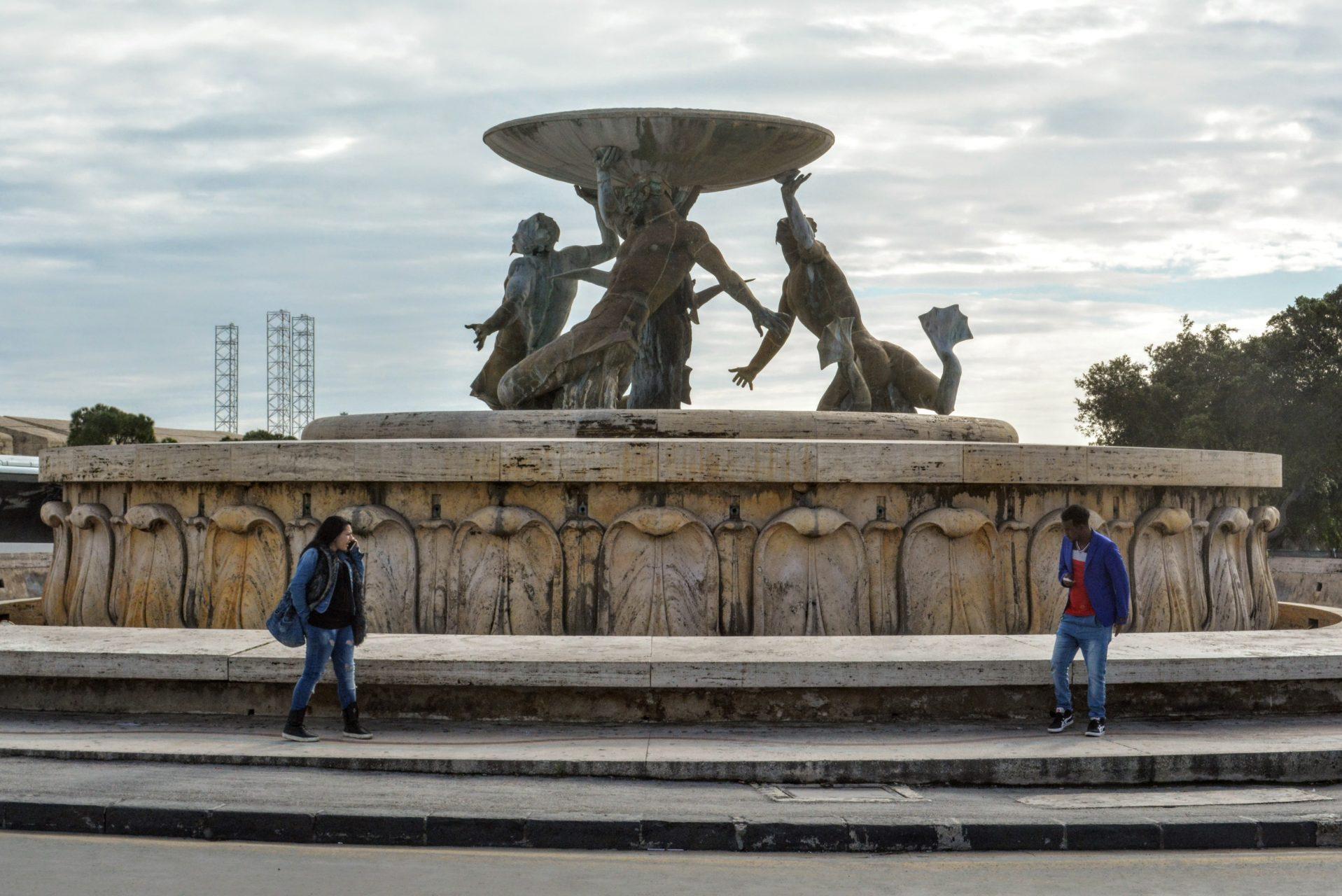 Валлетта, фонтан Тритон
