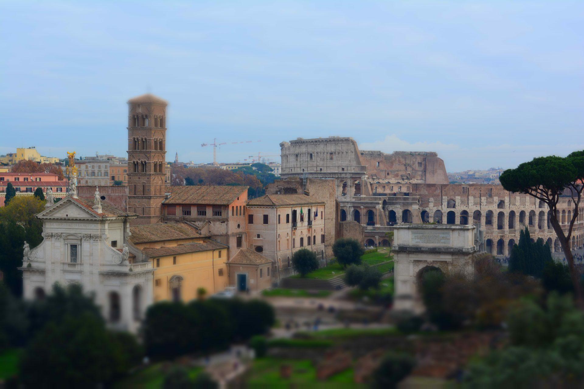 Вид на Колизей, Рим
